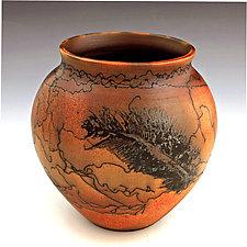Horsehair Small Pot by David Gordon (Ceramic Vessel)
