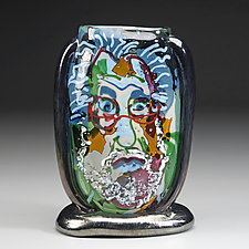 Self-Portrait by Bernstein Glass (Art Glass Sculpture)