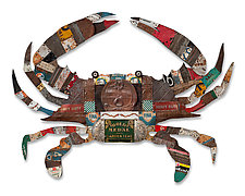 Blue Crab Collection by Dolan Geiman (Mixed-Media Wall Sculpture)