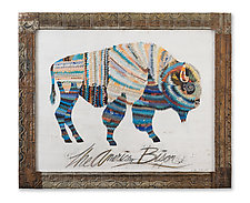 American Heritage Collection: Bison by Dolan Geiman (Mixed-Media Wall Art)