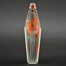Fire Series Bottle by Steven Main (Art Glass Bottle)