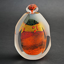 Desert Series Bottle by Steven Main (Art Glass Bottle)