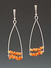 Slant Earrings by Ayala Naphtali (Silver & Stone Earrings)