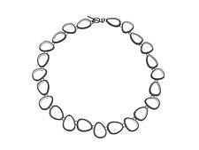 Organic Ovals Necklace by Heather Guidero (Silver Necklace)
