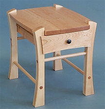 Single Drawer Bedside Table by Todd  Bradlee (Wood Side Table)