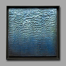 Feeling Blue IV by Carol Flaitz (Encaustic Painting)