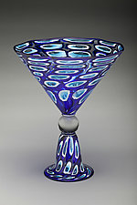 Blue Martini Bowl by Bryan Goldenberg (Art Glass Vase)