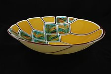 Blonde Revival Diamond Collection by Jason Lindell (Art Glass Bowl)
