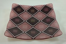 Purple Quilt by Jason Lindell (Art Glass Platter)