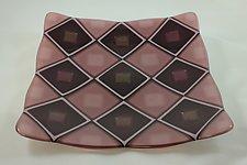 Purple Quilt by Jason Lindell (Art Glass Platter)