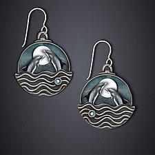 Dancing Dolphin Earrings by Dawn Estrin (Silver Earrings)