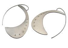Eggplant Earrings by Susan Crow (Silver Earrings)