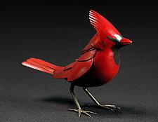 Cardinal Cardinal by Charles McBride White (Metal Sculpture)