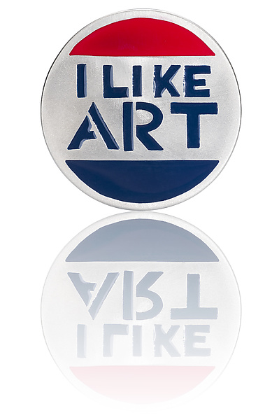 I Like Art Pin