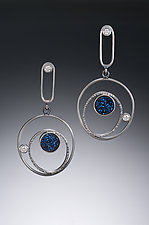 Orbital Earrings by Samantha Freeman (Silver & Stone Earrings)