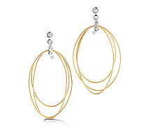 Scribble Thompson Earrings by Dana Melnick (Gold & Stone Earrings)