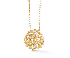 Meridian Round Pendant by Dana Melnick (Gold & Stone Necklace)