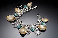 Monarch Charm Bracelet by Judith Neugebauer (Gold, Silver, & Stone Bracelet)