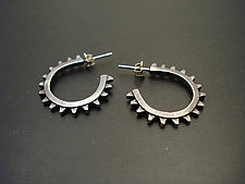 Velocity Hoops by Tavia Brown (Silver Earrings)