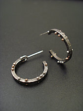 All Pinned Up Hoops by Tavia Brown (Gold & Silver Earrings)