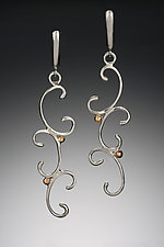 Scroll Waterfall Earrings by Kennedi Milan (Gold & Silver Earrings)