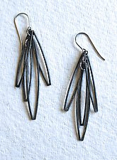 Cosmos 5 Earring by Jennifer Bauser (Silver Earrings)
