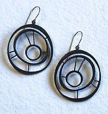 Oxidized Goddess Earring #5 by Jennifer Bauser (Silver Earrings)