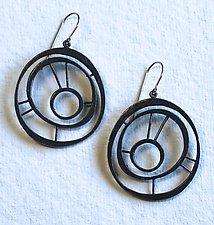 Oxidized Goddess Earring #5 by Jennifer Bauser (Silver Earrings)