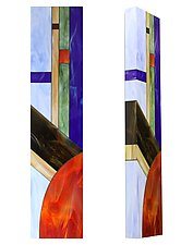 Sunset #2 by Gerald Davidson (Art Glass Wall Sculpture)