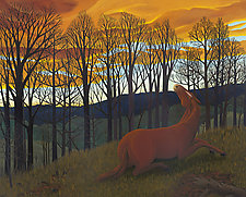 Horse and Sunset by Jane Troup (Giclee Print)
