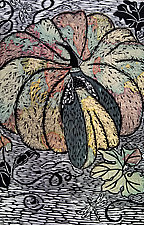Global Pumpkin by Ouida  Touchon (Woodcut Print)