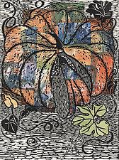 Fairytale Pumpkin by Ouida  Touchon (Woodcut Print)