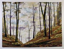 Unknown Path by Linda Beach (Fiber Wall Art)