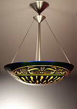 Ts'ang Pendant Lamp by George Scott (Art Glass Pendant Lamp)