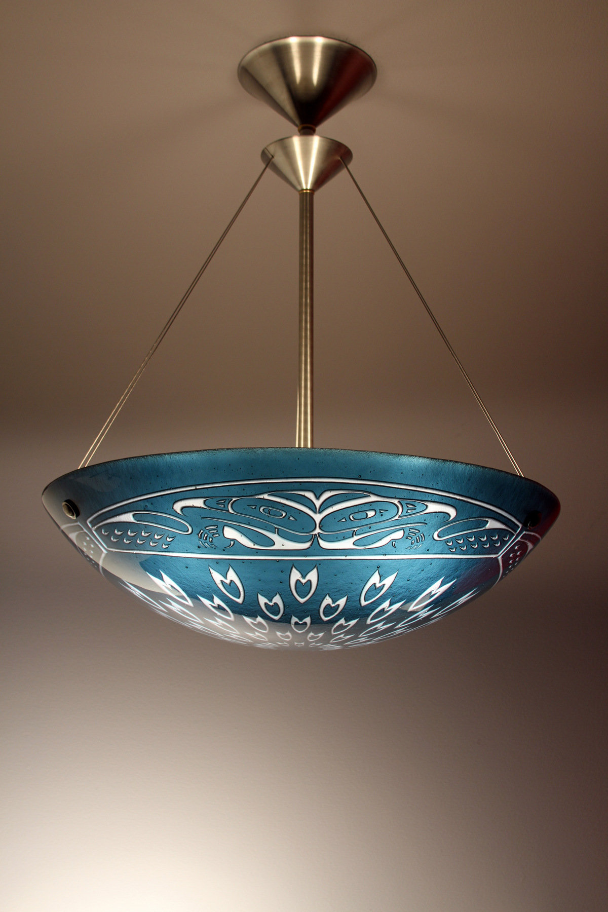 Falcon Pendant Lamp By George Scott Art Glass Pendant