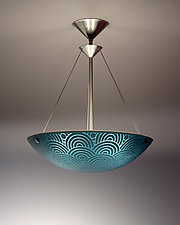 Seigaiha Pendant Lamp by George Scott (Art Glass Pendant Lamp)