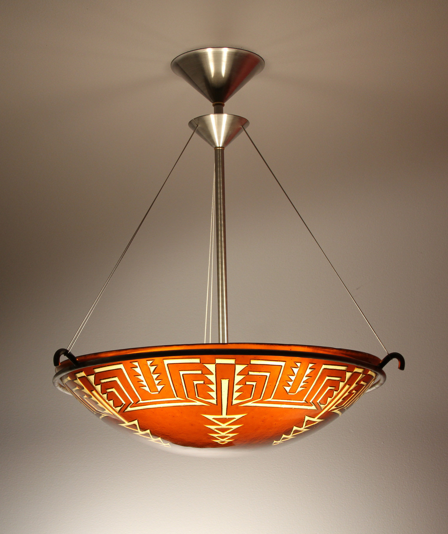 Pima Pendant Lamp By George Scott Art Glass Pendant Lamp