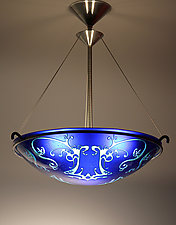 Dauphine Pendant Lamp by George Scott (Art Glass Pendant Lamp)