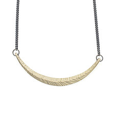 Curved Necklace in 14K Gold by Kendra Renee (Gold & Silver Necklace)