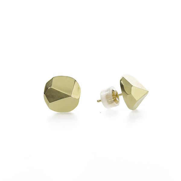 Faceted Posts in 14K Gold