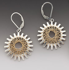 Pyxis Earrings with Gold by Marie Scarpa (Gold & Silver Earrings)