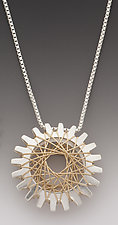 Pyxis Pendant with Gold by Marie Scarpa (Gold & Silver Necklace)