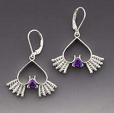 Queen of Hearts Earrings by Marie Scarpa (Silver & Stone Earrings)