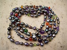 Long Underwater Fantasy Necklace by Diana Lovett (Beaded Necklace)
