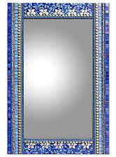 Blue Flora by Angie Heinrich (Mosaic Mirror)