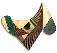 No. 46 by James Nelson (Wood Wall Sculpture)