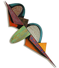 No. 89, Brooch by James Nelson (Wood Wall Sculpture)
