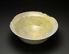 Curry and Honeydew Bowl by Lauren Kearns (Ceramic Bowl)