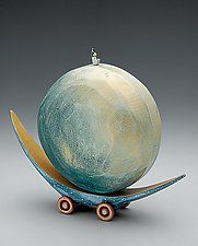 Full Moon Boat by Dona Dalton (Wood Sculpture)