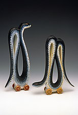 Egyptian Serpents by Dona Dalton (Wood Sculpture)
